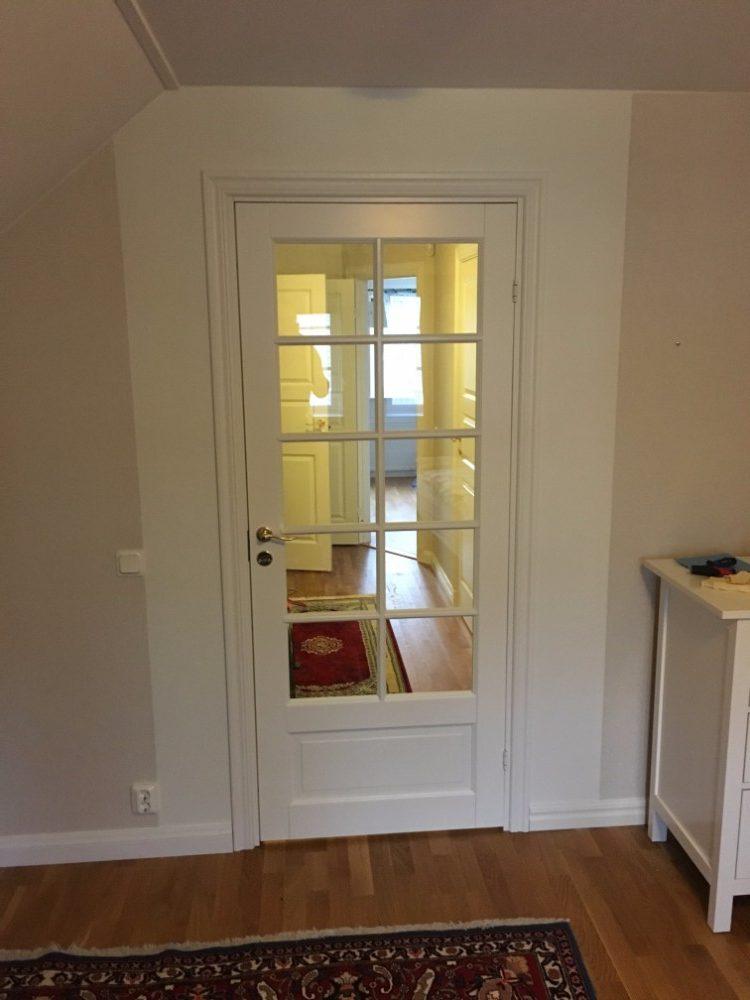 Inner dörr montering